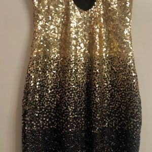Dazzling gold and black sequin dress!